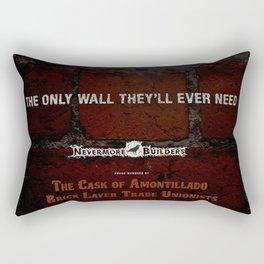 Nevermore Builders: Cask of Amontillado Trump-Wall Advert Rectangular Pillow