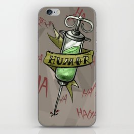 Injecting Humor Tattoo iPhone Skin
