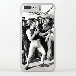 Boxing on a Naval Ship, 1899 Clear iPhone Case