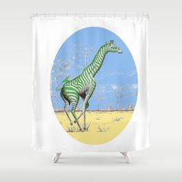 Girafe printemps Shower Curtain