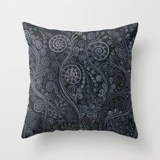 3D ornaments, soft blue Throw Pillow