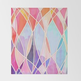 Purple & Peach Love - abstract painting in rainbow pastels Throw Blanket