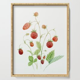 Wild Strawberries Serving Tray