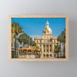 Savannah Tour and City Hall Framed Mini Art Print