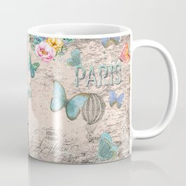 Paris - my love - France Nostalgy- pink French Vintage Coffee Mug