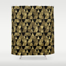 Gold Art Deco Goblets Shower Curtain