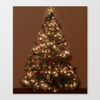 christmas tree Canvas Prints featuring Christmas tree. by Assiyam