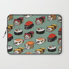 Sushi English Bulldog Laptop Sleeve