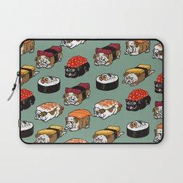 Sushi English Bulldog Laptop Sleeve