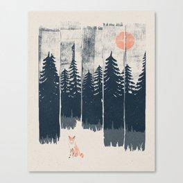 A Fox in the Wild... Canvas Print