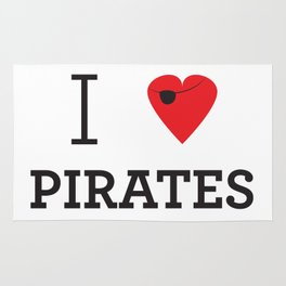 I heart Pirates Rug
