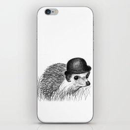 Hedgehog in a Bowler Hat iPhone Skin