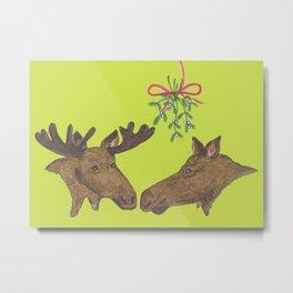 Moose Christmas Metal Print