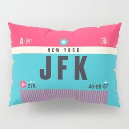Baggage Tag A - JFK New York John F. Kennedy USA Pillow Sham