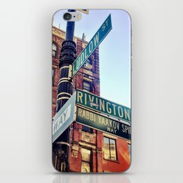 Ludlow and Rivington, Lower East Side Manhattan iPhone Skin