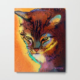 Bright Tabby Cat Metal Print
