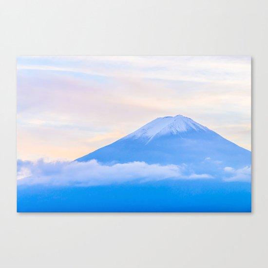 pastel mountain #sky Canvas Print