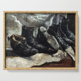 Vincent van Gogh Three pairs of shoes Serving Tray