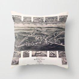 Bird's Eye View of Rising Sun, Maryland (1907) Throw Pillow