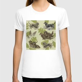 Dachshunds pattern T-shirt