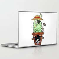 luffy Laptop & iPad Skins featuring Cactus Luffy by Vania Pietronigro