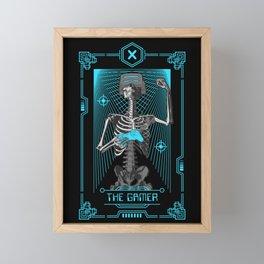 The Gamer X Tarot Card Framed Mini Art Print