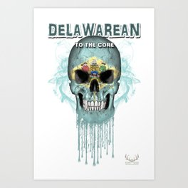 To The Core Collection: Delaware Art Print