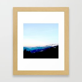 Mountain views abstracted to color blocks Framed Art Print