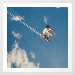 Sky Skater Art Print