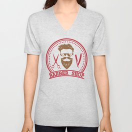 Barber shop Unisex V-Neck