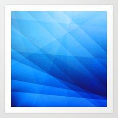 Nexus Blue Art Print