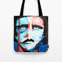 poe Tote Bags featuring Poe by J. John Whitmore