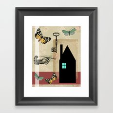 The House With The Turquoise Light On No.2 Framed Art Print
