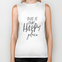 Wall Art,This Is Our Happy Place,Home Decor,Gift For Sister,Wedding Gift,Housewarming Gift Biker Tank