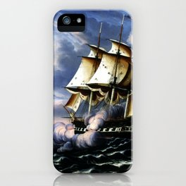 Thomas Chambers Capture of H.B.M. Frigate Macedonian by U.S. Frigate United States, October 25, 1812 iPhone Case