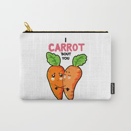 I CARROT BOUT YOU Vegetable Vegan Veggie Love Carry-All Pouch