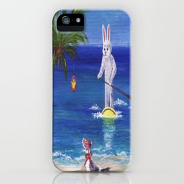 Easter Bunny at the Beach iPhone Case