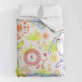 Safari animals Comforters