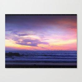 Sleepy Sunset Waves Goodnight Canvas Print