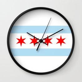 Chicago City Flag Windy City Standard Wall Clock