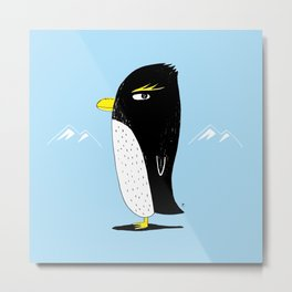 Rockhopper Penguin Metal Print