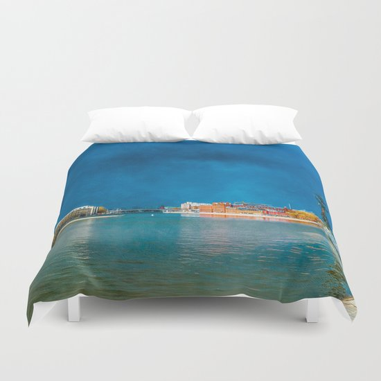 Snow Showers Over Moscow Duvet Cover