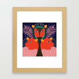 Tiger Trinity Framed Art Print