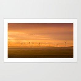 wind farm 2 Art Print