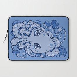 Happy Octopus Squid Kraken Cthulhu Sea Creature - Baby Blue Laptop Sleeve