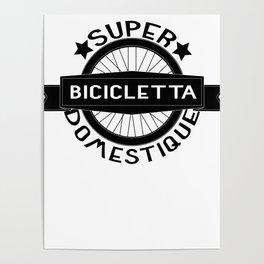 Bicicletta Super Domestique Retro Bike Bicycling Poster