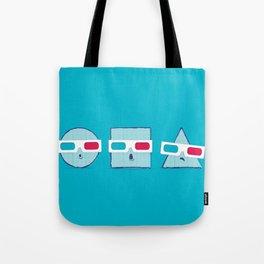 3D Shapes Tote Bag
