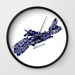 Nova Scotia Map Wall Clock