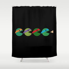 Pac-Turtles Shower Curtain