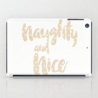 polkadot iPad Cases featuring Naughty and Nice polkadot  by Olga Golovizina